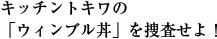 キッチントキワの 「ウィンブル丼」を捜査せよ!